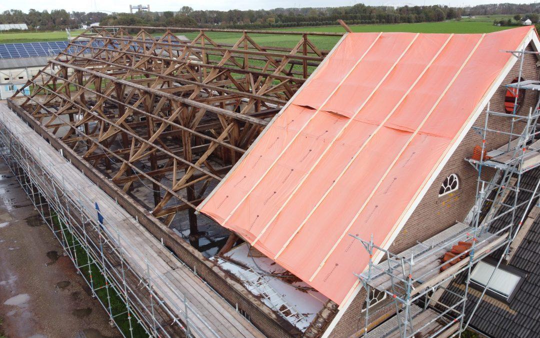 schuur dak boerderij verbouwing